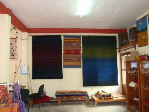 Rugs_made_from_all_natural_dyes_on_display_in_rafaellas_cooperative
