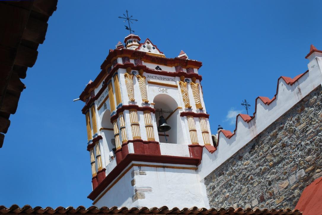 A view of the top of Preciosa Sangre de Cristo church.
