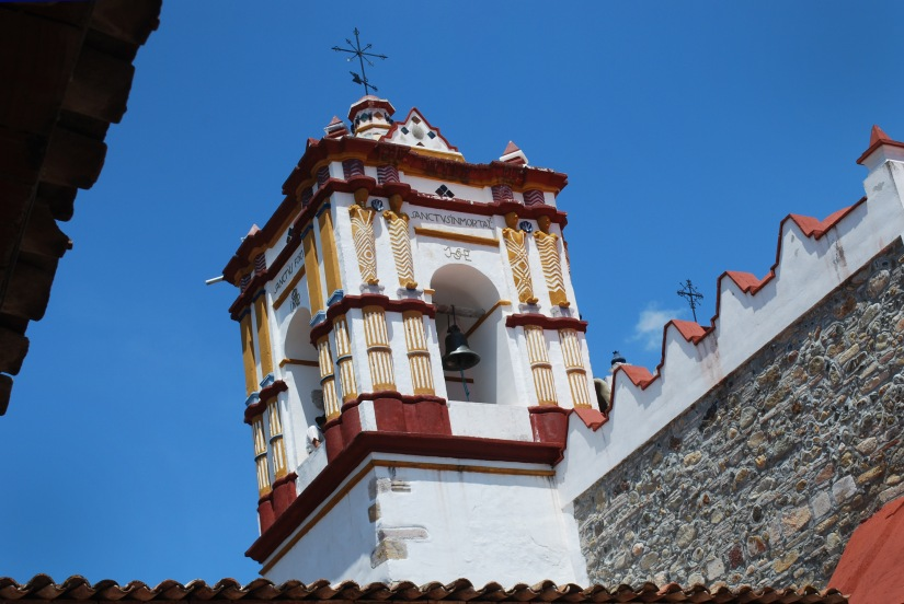 A view of the top of Preciosa Sangre de Cristo church.