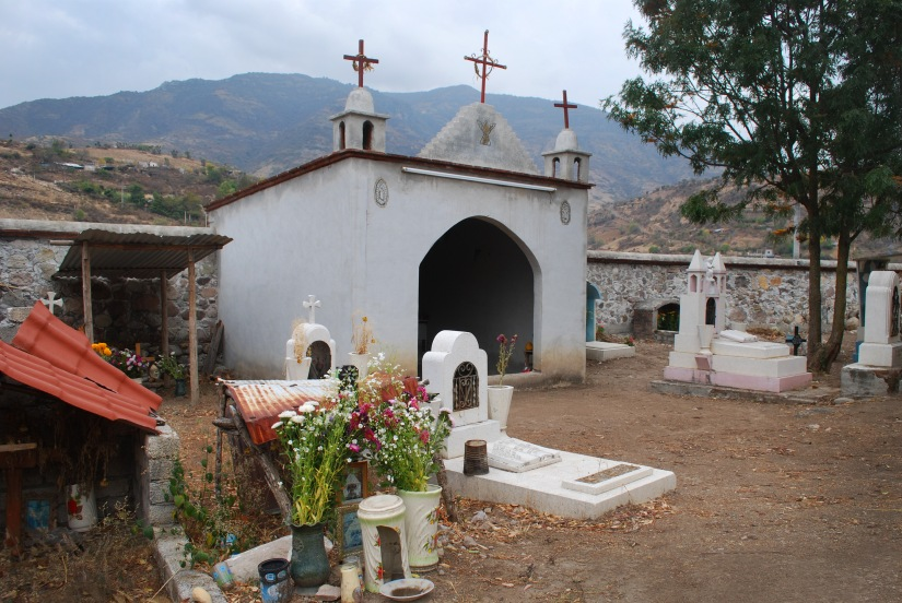 The beautiful graveyard in San Miguel Del Valle.