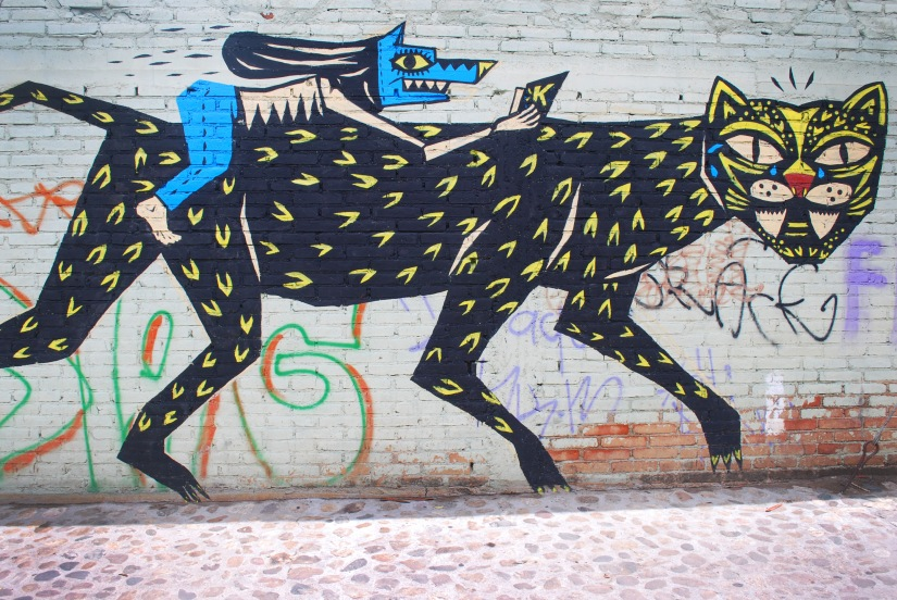 Street art mural in Xochimilco.