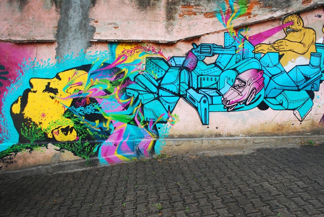 Vibrant mural in Xochimilco by Stinkfish and APC Crew.