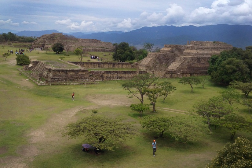 A morning view of Monte Alban.