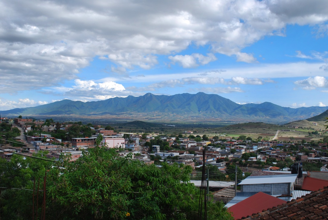 A beautiful view of Teotitlan del Valle from the family compound.