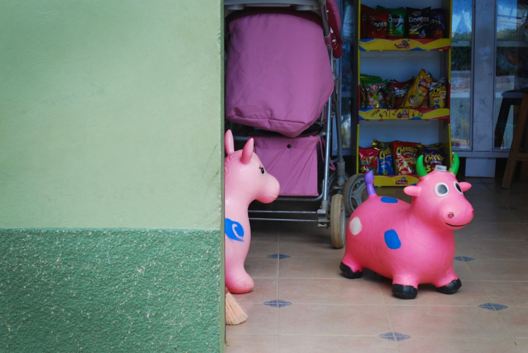 Toys and snacks in a nearby tienda.