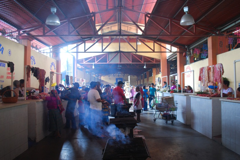 Meat vendors sell provide a wide selection, which you grill yourself over hot fires in the main food hall.