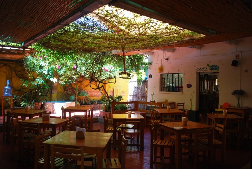 Ready for customers at La Jicara Café.