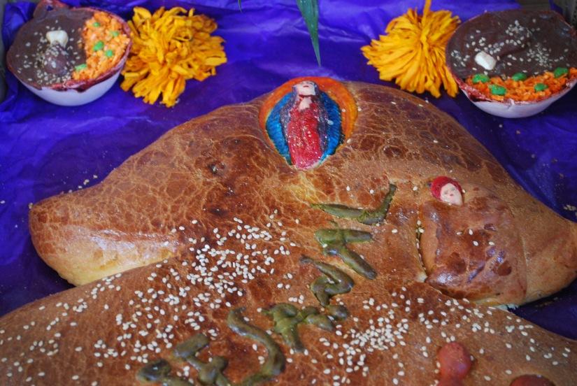 Special pan de muertos from Etla.