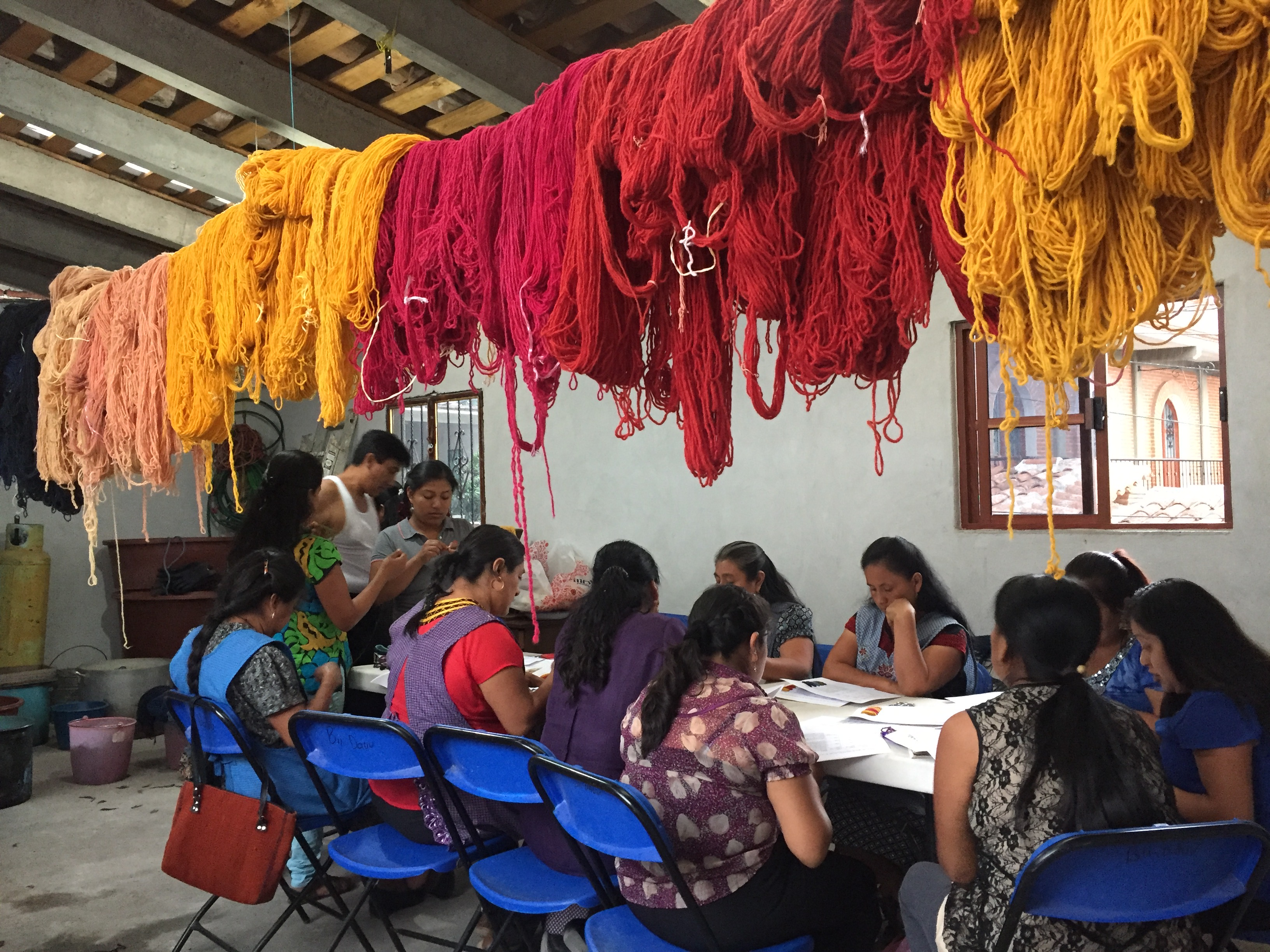 Natural dye course for weavers in Teotitlán del Valle